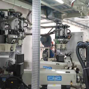 Gravimetric batch blender GRADO ADROIT for blown film extrusion line